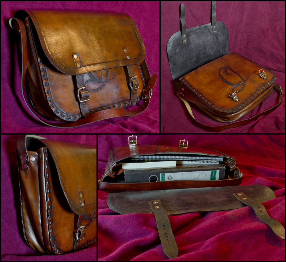 Vintage Style Leather Bag by Wodenswolf