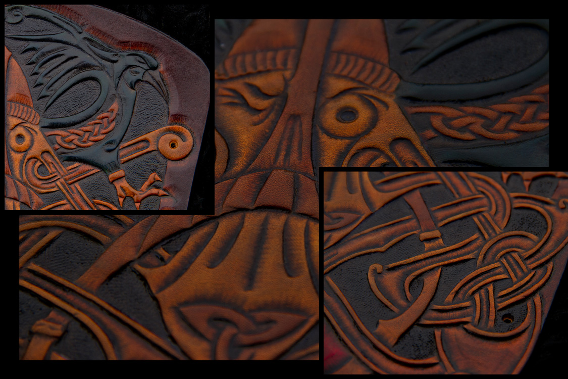 Viking Bracer Oden Details by Wodenswolf