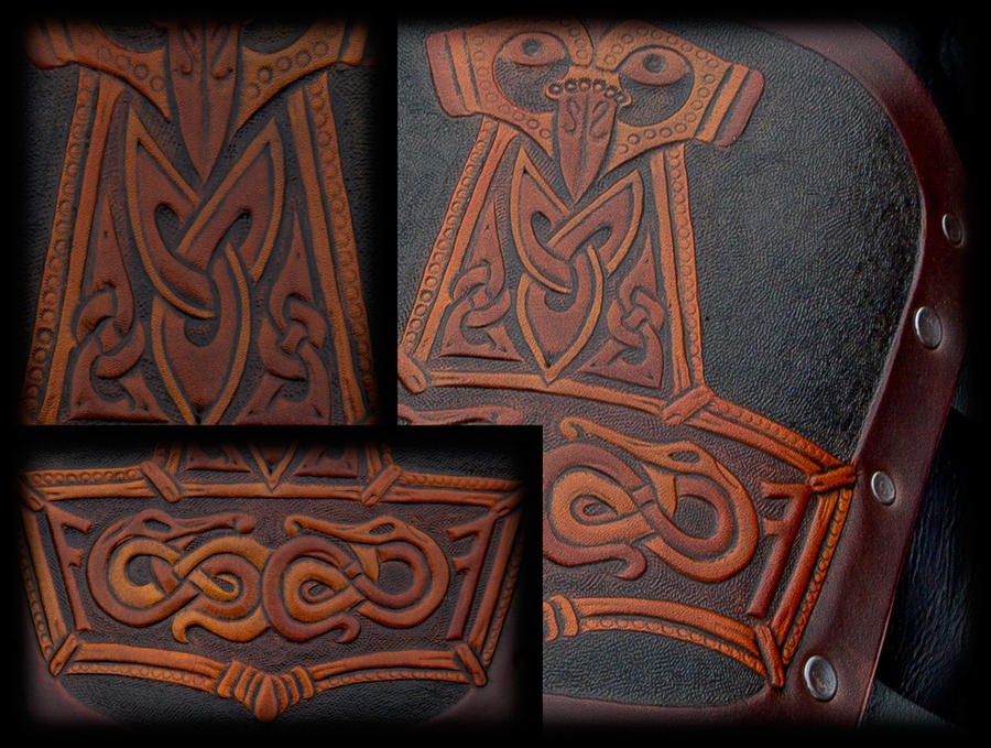 Bracer Thor's Hammer Details by Wodenswolf