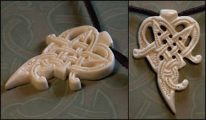 Witches Heart Bone Pendant by Wodenswolf
