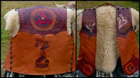 Varg I veum Leather Vest by Wodenswolf