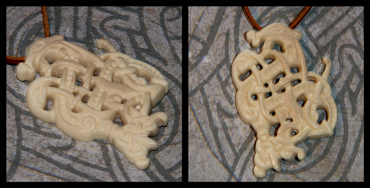 Dragon bone-pendant by Wodenswolf