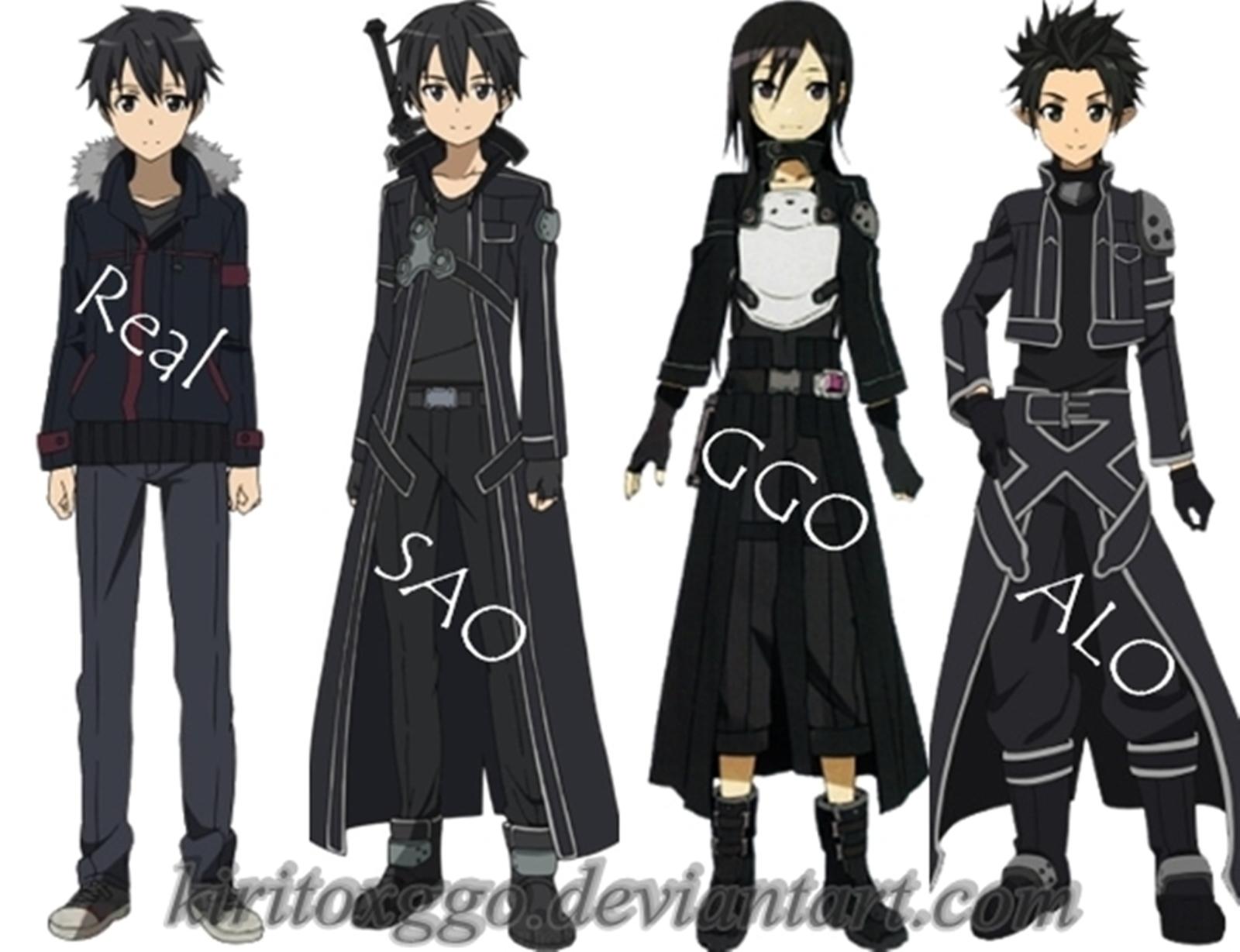Kirigaya Kazuto Characters By Kiritoxggo