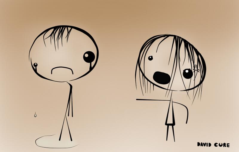 A sad relationship by DavidCure