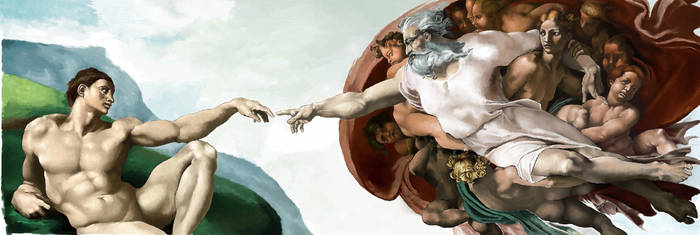 [The Creation of Adam] MS Paint