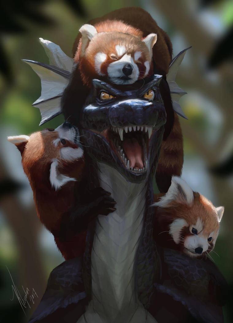 Panda Invasion by Khyaber