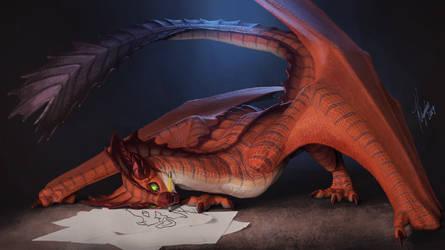 The Wyvern Artist by Khyaber