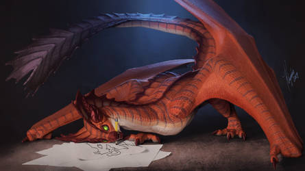 The Wyvern Artist by Khyaber