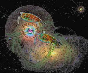 Cosmic Turtles by creatrix