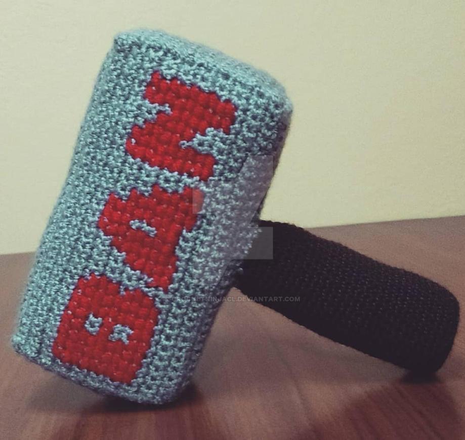 Banjolnir - Ban Hammer by CrochetNinjaCL