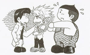 Rui, Hiruma and Kurita SD by satanpetiteflore