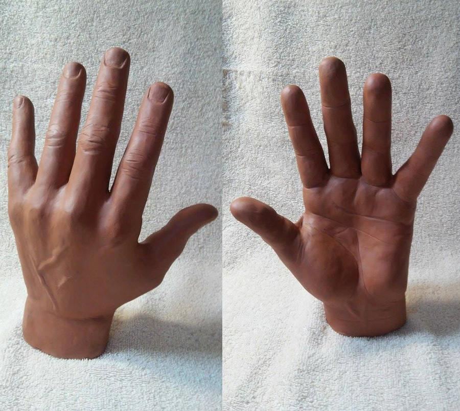 Hand study plasteline by Dark83