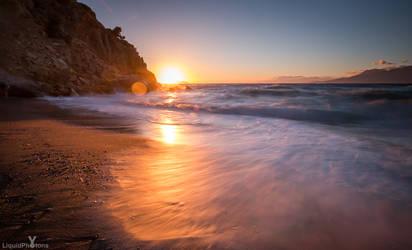 sundown at komos beach, Crete, 2016 by RaumKraehe