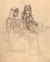 Samael and Lilith by Nelhemyah
