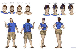 Character reference sheet by okayokayokok