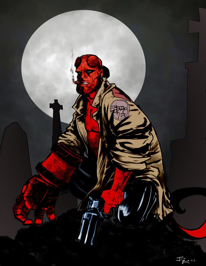 Hellboy Reboot w David Harbour by okayokayokok