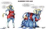 Blueberry Cow Milk by okayokayokok