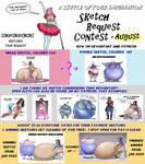 AUGUST Sketch Commissions by OKAYokayOKok