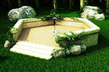 Zelda Mastersword Scene by iAkumu