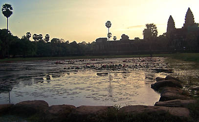 Sunrise at Angkor Wat by outboundlight