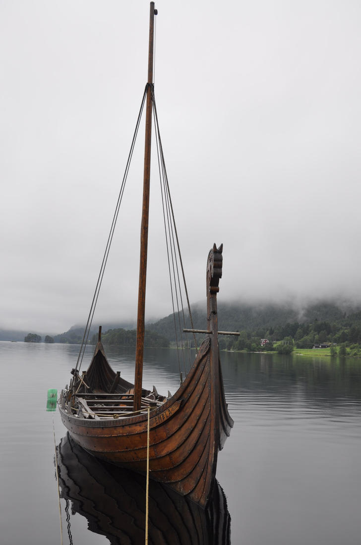 Vikings' ship by Dracona666STOCK