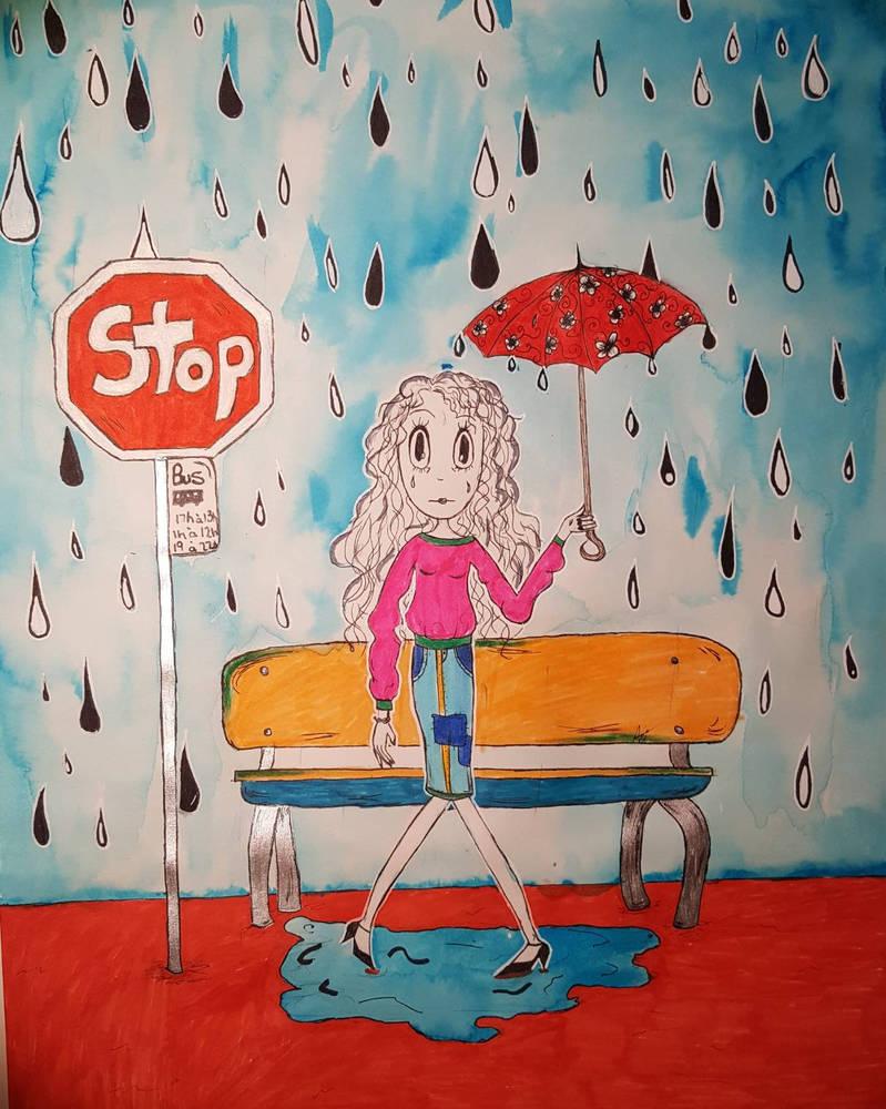 Sous la pluie  by chichi1997