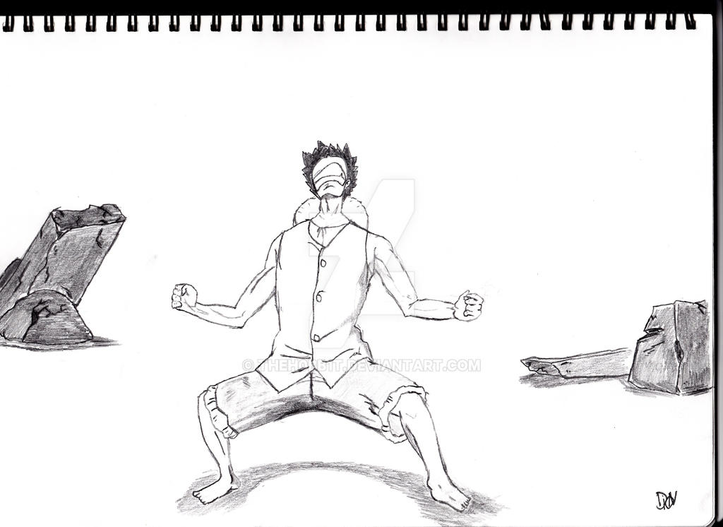 Luffy building up strength. by Theh0bb1t