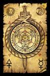 Alchemy Scroll (Ouroboros circle of transmutation)