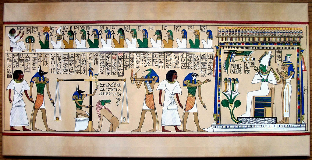 The judgement of the dead in the Osiris presence by tonelo