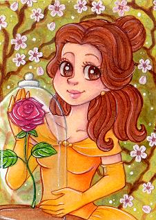 Aceo 62 Princess Belle by Primarella