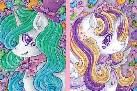 ACEO: Sugar Ponies by Primarella