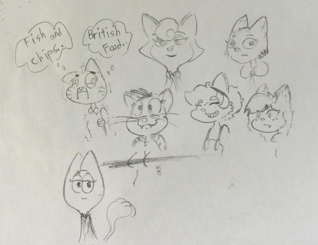 Cat Doodle by protoss722