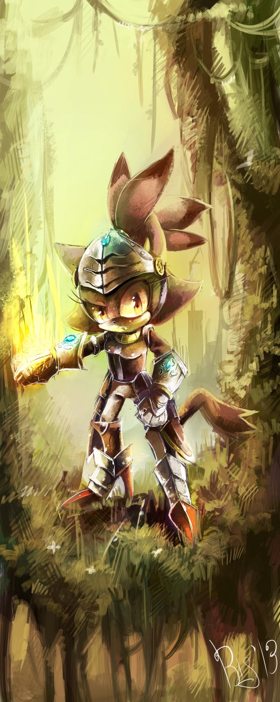 fire knight. by silveyn