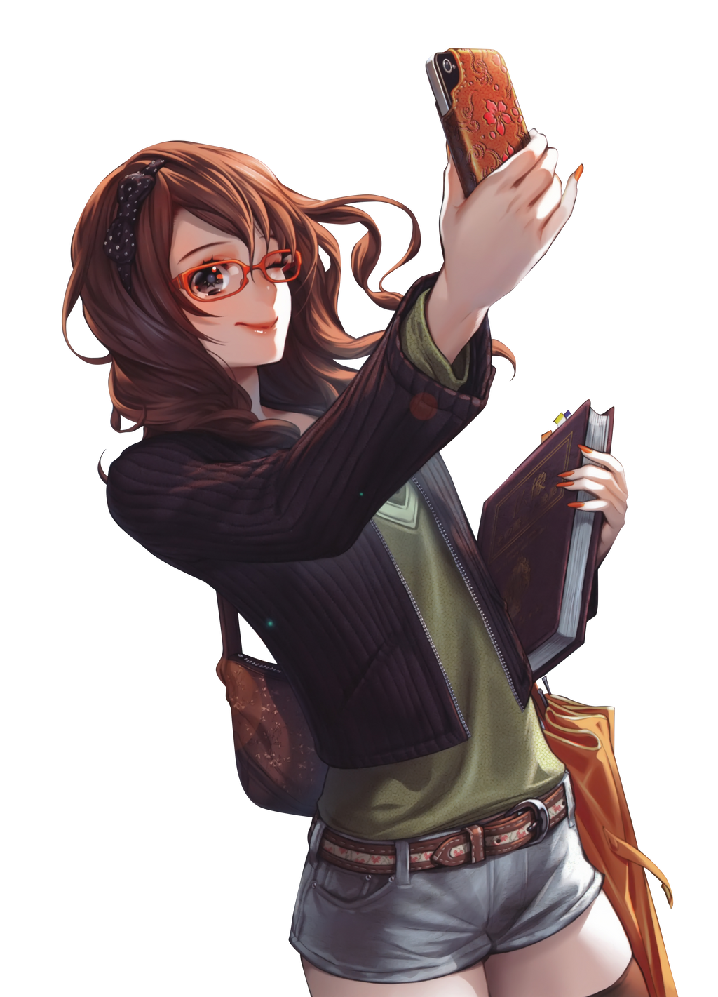Amor mortal  Brown_hair_anime_girl_glasses_phone_render_png_by_seikiyukine-d85eu8p