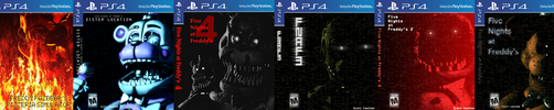 Five Night's at Freddy's [PlayStation 4 Covers] by GreenRou
