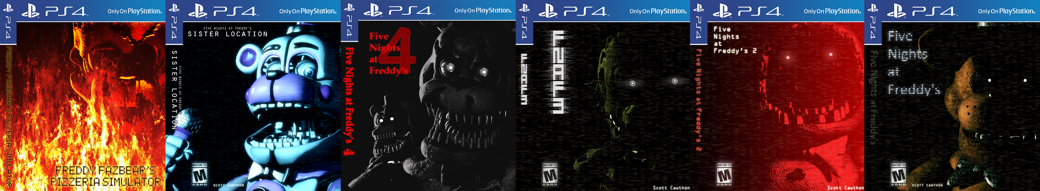 Five Night's at Freddy's [PlayStation 4 Covers]