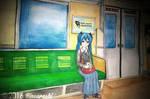 Hatsune Miku in Train