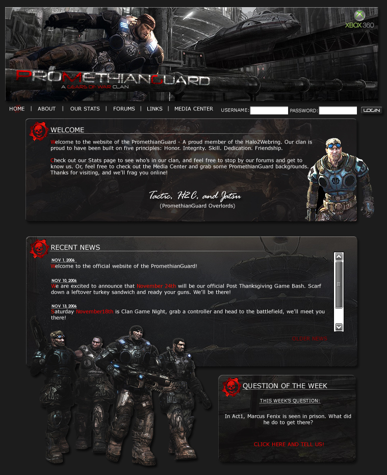 Gears Of War Clan Template by CAFLORES