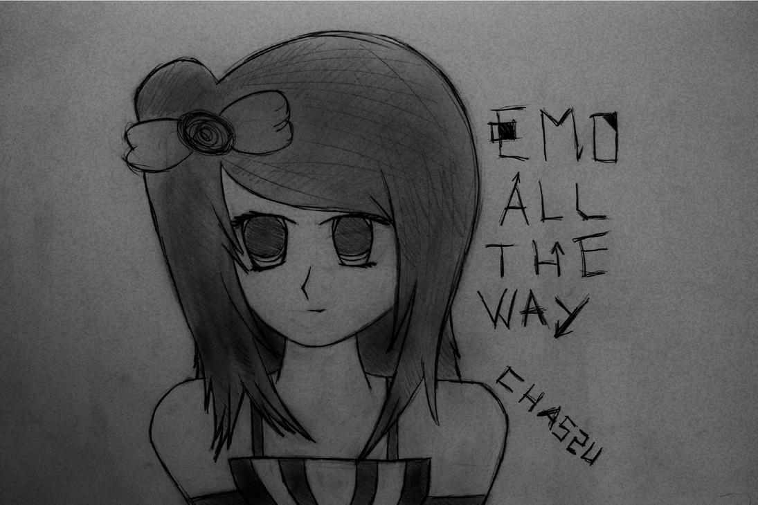 Emo Girl Drawing Cute Anime Emo Girl Drawings