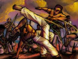 Capoeira Fun Colored 2 by anthonybaiz