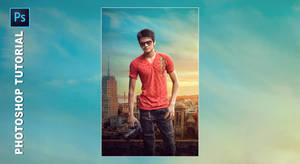 Saaho Fantasy Movie Poster Making in Photoshop