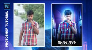 Detective - Photoshop manipulation Tutorial Proces