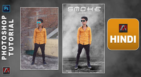 Smoke Photo editing in photoshop | M.A.Graphicx |