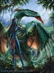 Na'vi and Ikran by Lilian-art