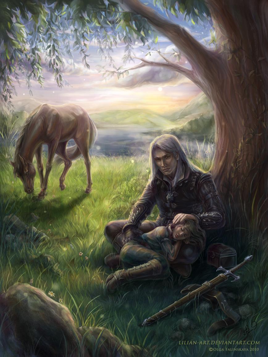 Geralt and Cirilla by Lilian-art
