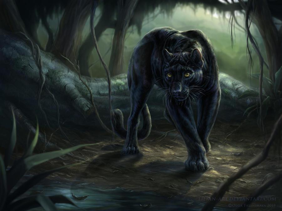 Panthera pardus by Lilian-art
