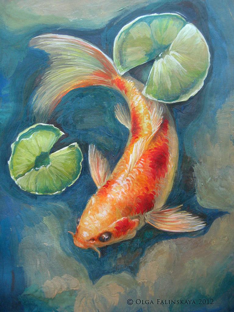 Koi by lilian art on deviantart for Koi fish art paintings