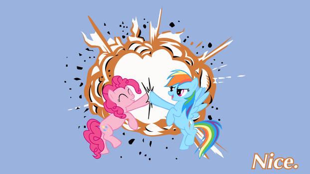 Rainbow Dash Pinkie Pie Nice.
