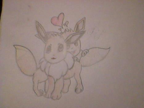 Pokemon pair of Loving Eevees