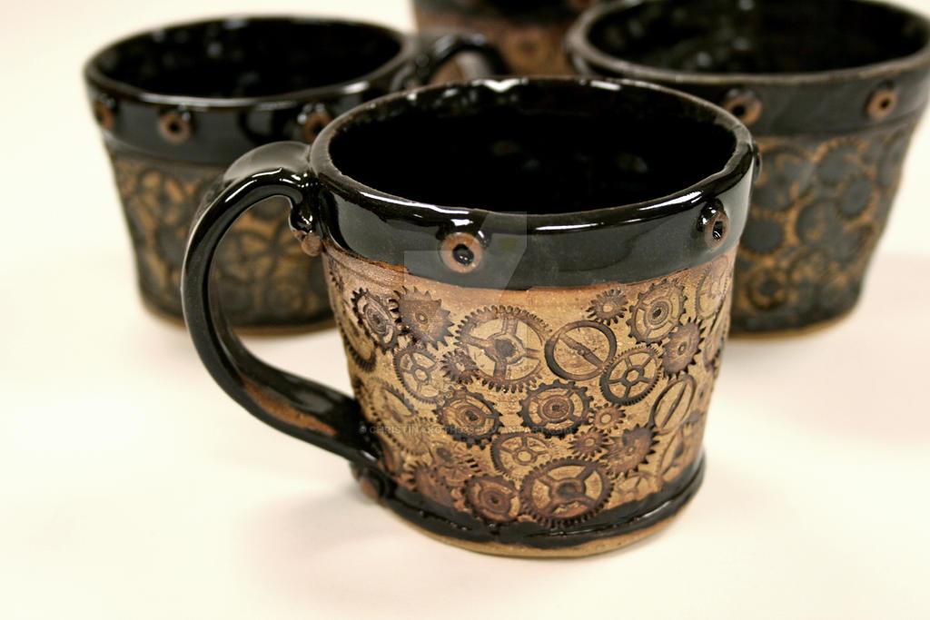 Gear Impression Mugs by ChristinaRoth333